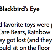 The Blackbird's Eye