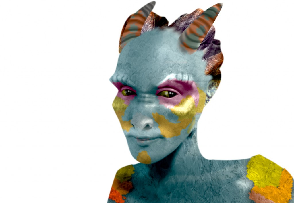 Stryka-Face-Portrait by Emily Carmichael