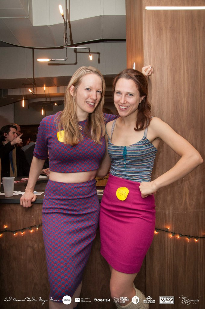 Emily Carmichael and Josephine Decker at IFP Media Mixer