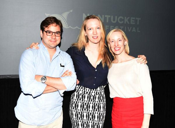 Adam Spielberg, Emily Carmichael and Krista Parris at Nantucket Film Festival