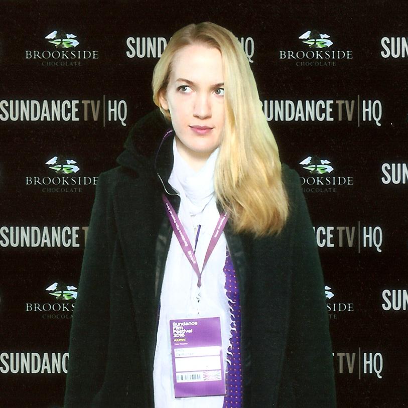 Emily Carmichael Poses Appropriately at Sundance Film Festival